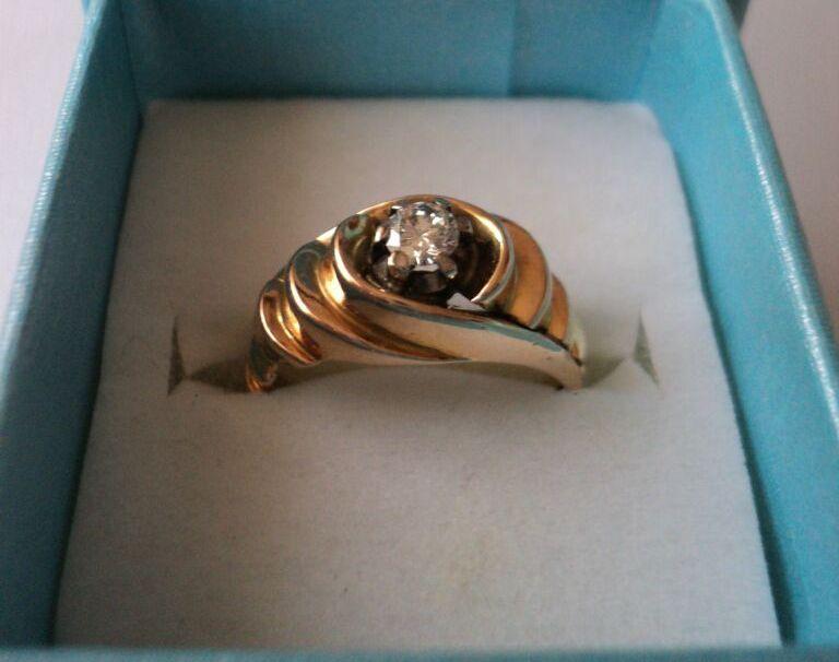 aur de 18k cu diamant